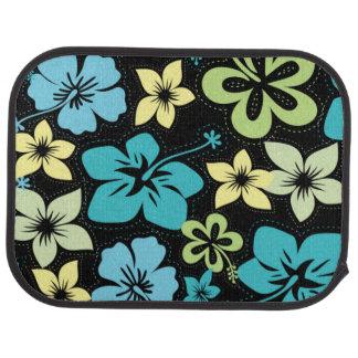 Tropical Hawaiian Hibiscus / black Car Mat