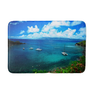 Tropical Hawaiian Island Cove Bath Mat