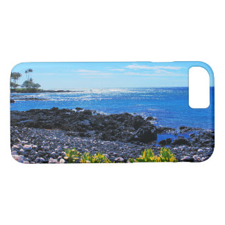 Tropical Hawaiian Island Rocky Beach iPhone 8/7 Case
