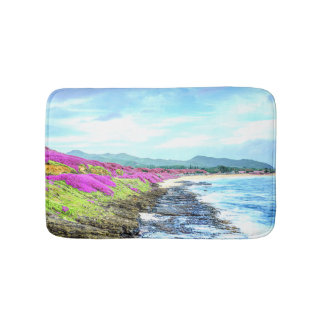 Tropical Hawaiian Island Shoreline Paradise Bath Mat