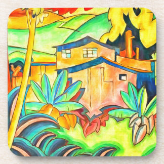 Tropical Hawaiian Island Theme for Home Coaster