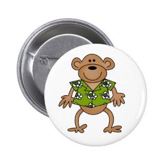 Tropical Hawaiian Monkey Button