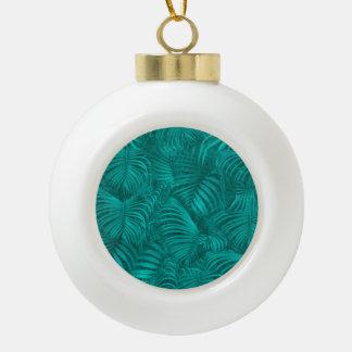 Tropical Hawaiian Pattern Ceramic Ball Ornament