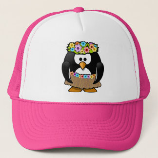 Tropical Hawaiian Penguin Trucker Hat