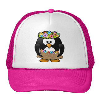 Tropical Hawaiian Penguin Trucker Hat