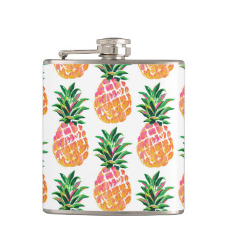 Tropical Hawaiian Pineapple Hip Flask