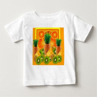tropical  HAWAIIAN PINEAPPLE & ORANGE SLICES KIWI Baby T-Shirt