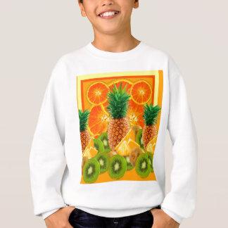 tropical  HAWAIIAN PINEAPPLE & ORANGE SLICES KIWI Sweatshirt