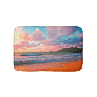 Tropical Hawaiian Sunset Bath Mat