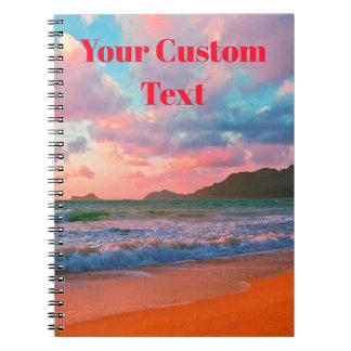 Tropical Hawaiian Sunset Notebook