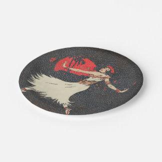 Tropical Hawaiian Vintage Hula Dancer | Luau Party 7 Inch Paper Plate