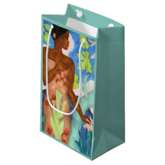 Tropical Hawaiian Vintage Polynesian Woman Small Gift Bag