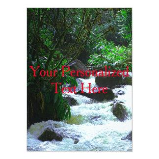 Tropical Hawaiian Waterfall Card