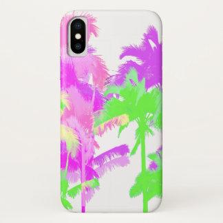 Tropical Heat Wave Neon Hawaiian Palm Trees Case-Mate iPhone Case