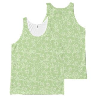 Tropical hibiscus All-Over-Print tank top