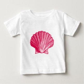 Tropical Hibiscus Blush Pink Sea Shell Baby T-Shirt
