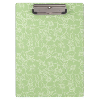 Tropical hibiscus clipboard