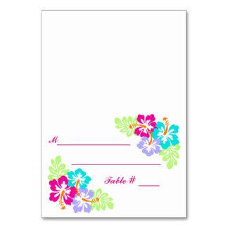 Tropical Hibiscus - Escort Card Table Card