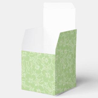 Tropical hibiscus favor box