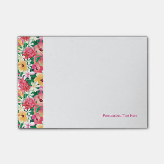 Tropical Hibiscus Floral Pattern Post-it Notes
