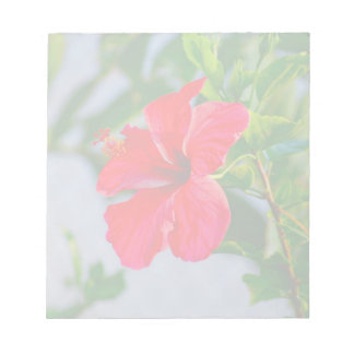 Tropical HIbiscus Floral Print Notepad
