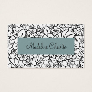 Tropical Hibiscus Floral Profesional Business Card