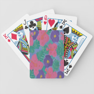 Tropical Hibiscus Flowers Bicycle Playing Cards