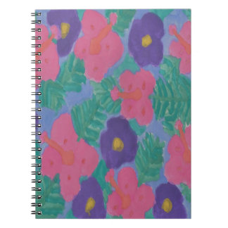 Tropical Hibiscus Flowers Spiral Notebook