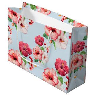Tropical Hibiscus Hawaiian Floral Customizable Large Gift Bag