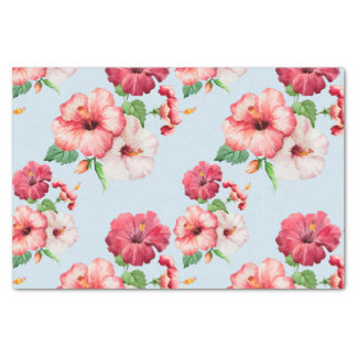 Tropical Hibiscus Hawaiian Floral Customizable Tissue Paper