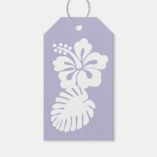 Tropical Hibiscus in Lavender Gift Tag Pack Of Gift Tags