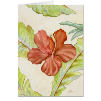 Tropical Hibiscus Notecard