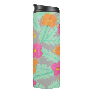 Tropical Hibiscus Pattern Tumbler