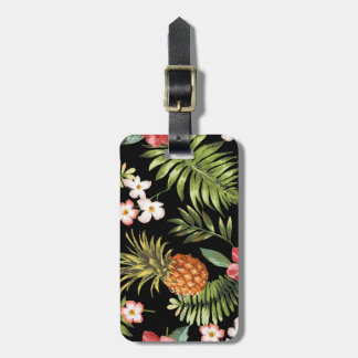 Tropical Hibiscus Pineapple Travel Luggage Tag