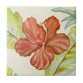 Tropical Hibiscus Tile