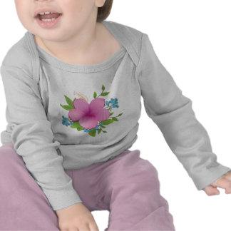 Tropical hibiscus tee shirt