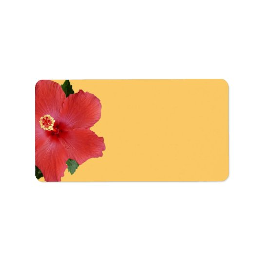 Tropical Hibiscus Wedding or General Blank Address