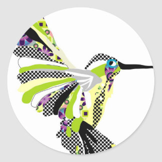 Tropical Hummingbird Classic Round Sticker
