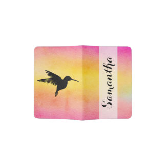 Tropical Hummingbird Colibri Passport Holder