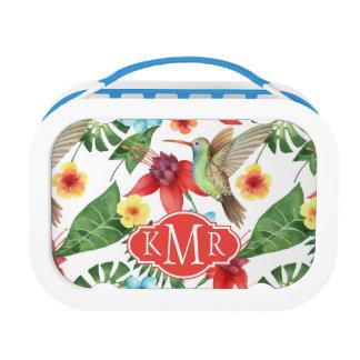 Tropical Hummingbird | Monogram Lunch Box