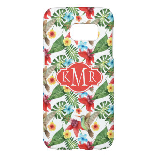 Tropical Hummingbird | Monogram Samsung Galaxy S7 Case