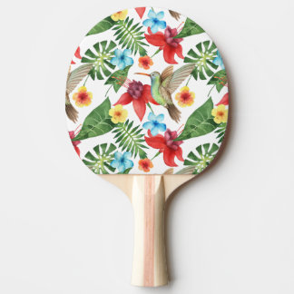 Tropical Hummingbird Ping Pong Paddle