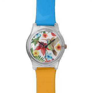 Tropical Hummingbird Wrist Watch