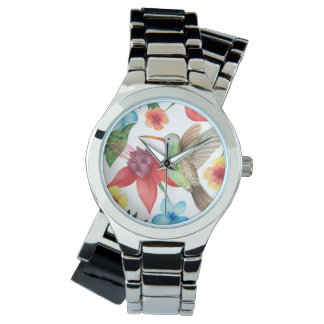 Tropical Hummingbird Wristwatch