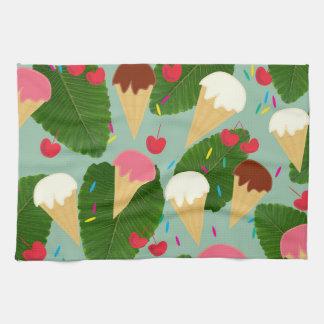 Tropical Ice Cream Hand Towel