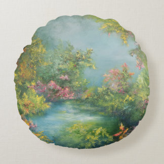 Tropical Impression 1993 Round Pillow