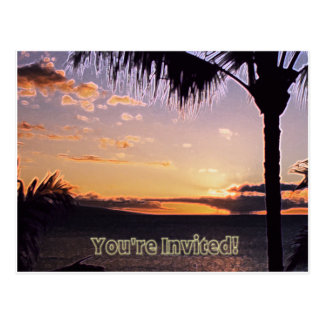 Tropical Invitation Postcard