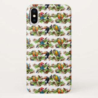 Tropical iPhone X Case (choose colour)