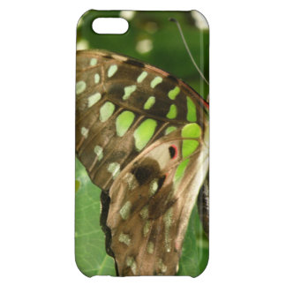 Tropical Iridescent Green Butterfly iPhone Case Cover For iPhone 5C