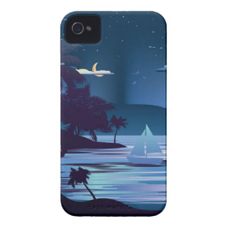 Tropical Island at Night2 iPhone 4 Covers